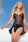 Sheer see through lingerie chemise